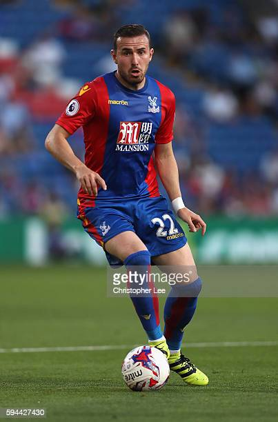 Jordan Mutch of Crystal Palace in action during the EFL Cup Second Round match between Crystal Palace and Blackpool at Selhurst Park on August 23...