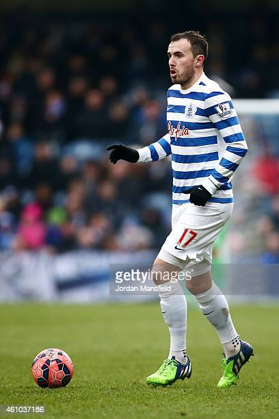 Jordan Mutch of QPR in action during the FA Cup Third Round match between Queens Park Rangers and Sheffield United at Loftus Road on January 4 2015...