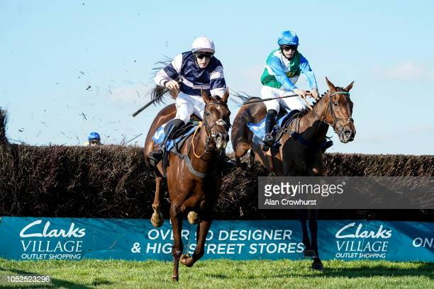 Jordan Nailor riding Aunty Ann clear the last to win The Smarkets Handicap Chase at Wincanton Racecourse on October 19 2018 in Wincanton England