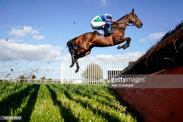 Jordan Nailor riding Aunty Ann on their way to winning The Smarkets Handicap Chase at Wincanton Racecourse on October 19 2018 in Wincanton England