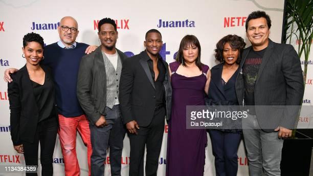 Jordan Nia Elizabeth Clark Johnson Blair Underwood Acorye' White Tsulan Cooper Alfre Woodard and Adam Beach attend the 'Juanita' New York screening...