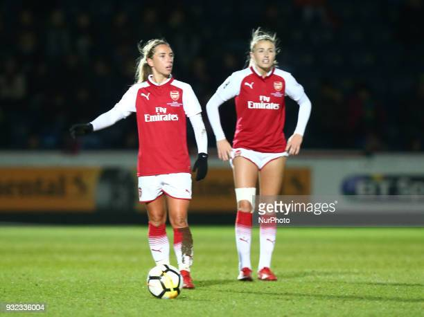 LR Jordan Nobbs of Arsenal and Leah Williamson of Arsenal during The FA WSL Continental Tyres Cup Final match between Arsenal against Manchester City...