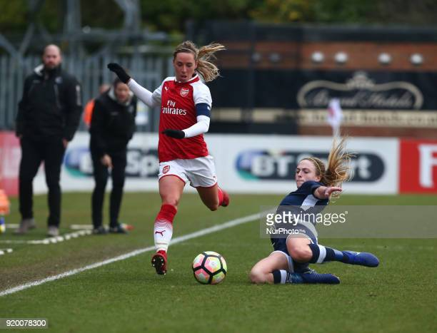 LR Jordan Nobbs of Arsenal and Megan Alexander of Millwall Lionesses L during The FA Women's Cup Fifth Round match between Arsenal against Millwall...