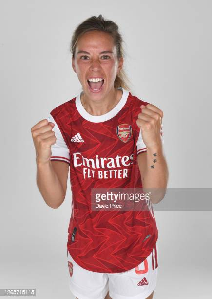 Jordan Nobbs of Arsenal during the Arsenal Women's Photocall at London Colney on August 12, 2020 in St Albans, England.