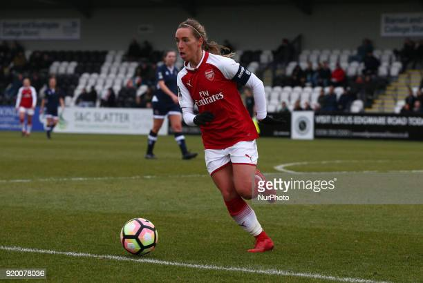 Jordan Nobbs of Arsenal during The FA Women's Cup Fifth Round match between Arsenal against Millwall Lionesses at Meadow Park Borehamwood FC on 18...
