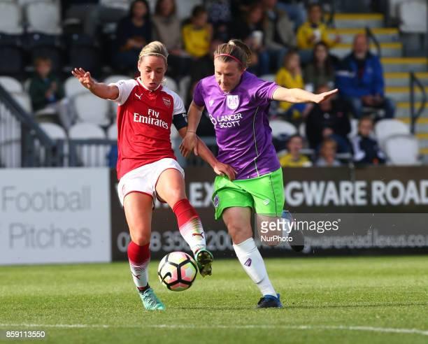Jordan Nobbs of Arsenal during Women's Super League 1match between Arsenal against Bristol City Women at Meadow Park Borehamwood FC on 08 Oct 2017