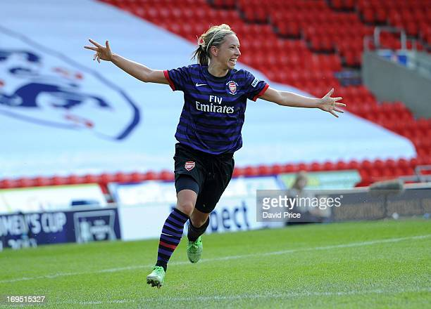 Jordan Nobbs of Arsenal Ladies celebrates after scoring her team's second goal during The FA Women's Cup Final match between Arsenal Ladies FC and...
