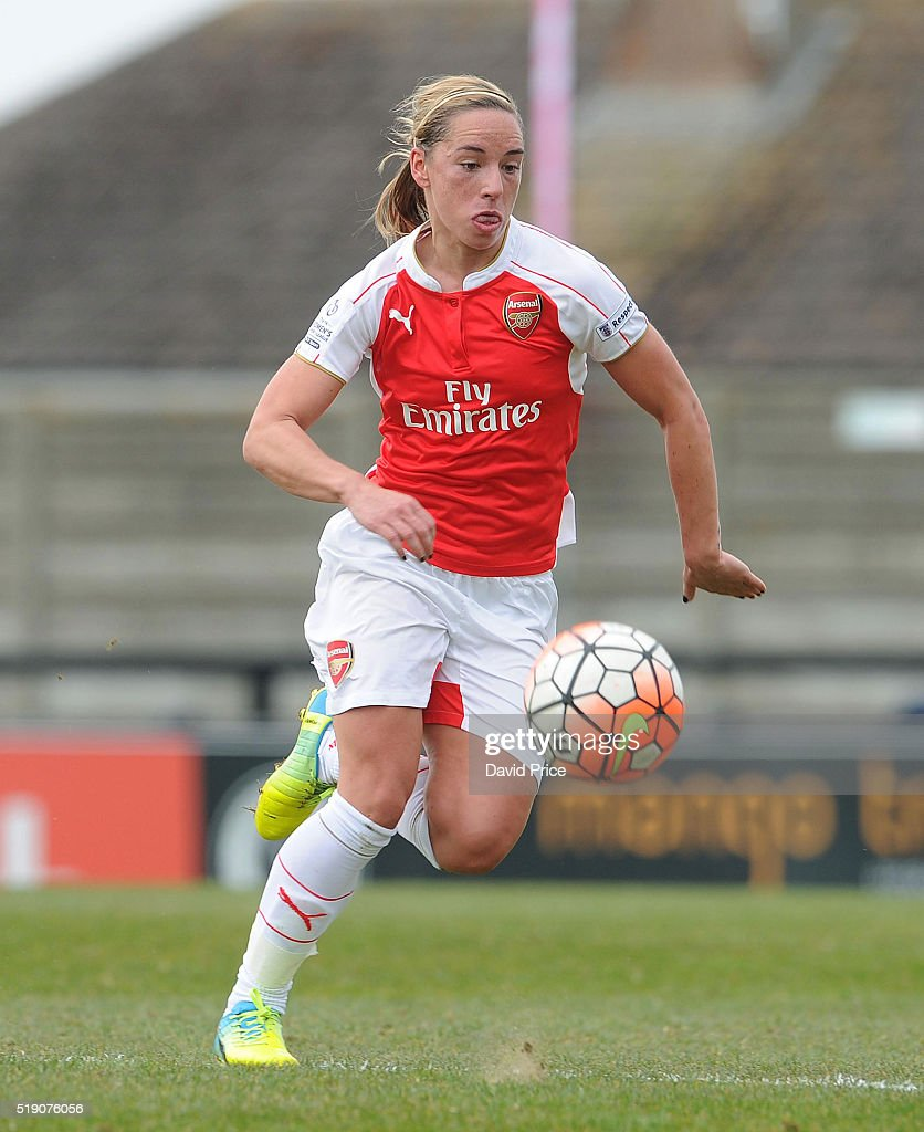 Jordan Nobbs of Arsenal Ladies during the match between Arsenal Ladies and Notts County Ladies at Meadow Park on April 3, 2016 in Borehamwood, England.