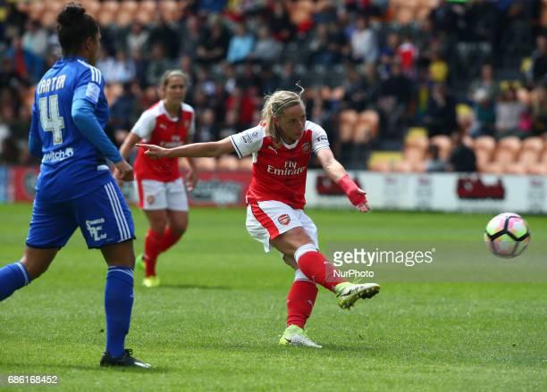 Jordan Nobbs of Arsenal Ladies during Women's Super League 1 Spring Series match between Arsenal Ladies against Birmingham City Ladies at The Hive...