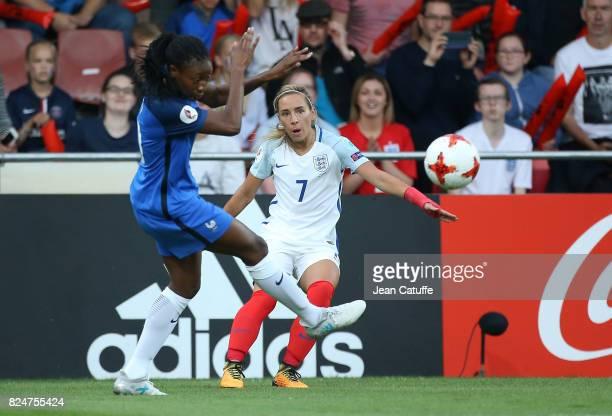 Jordan Nobbs of England during the UEFA Women's Euro 2017 quarter final match between England and France at Stadion De Adelaashorst on July 30 2017...
