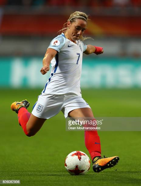 Jordan Nobbs of England in action during the UEFA Women's Euro 2017 Semi Final match between Netherlands and England at De Grolsch Veste Stadium on...