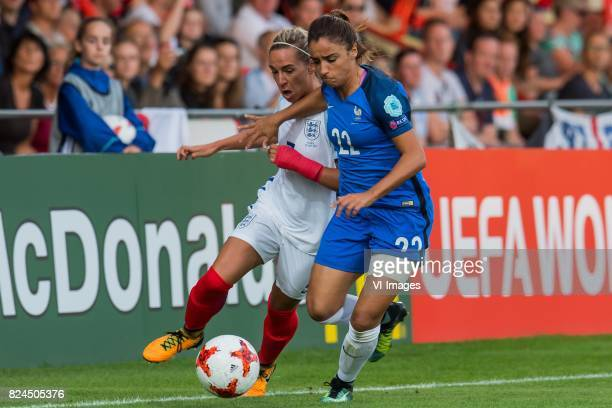 Jordan Nobbs of England women Sakina Karchaoui of France women during the UEFA WEURO 2017 quarter finale match between England and France at The...