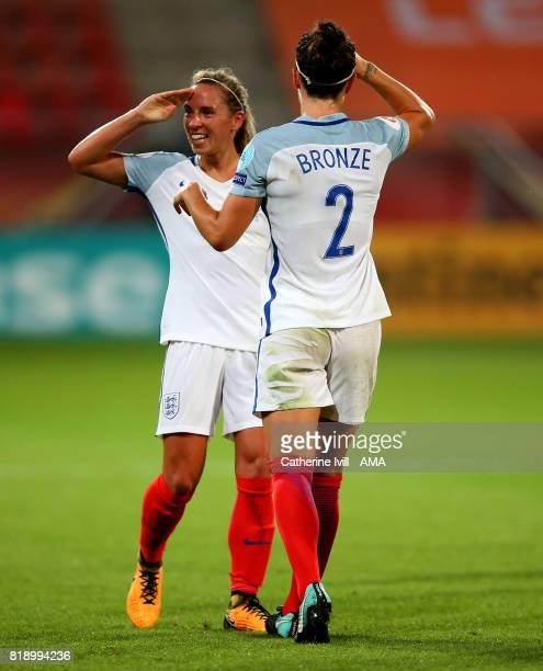 Jordan Nobbs of England Women salutes as she celebrates after scoring to make it 50 during the UEFA Women's Euro 2017 match between England and...