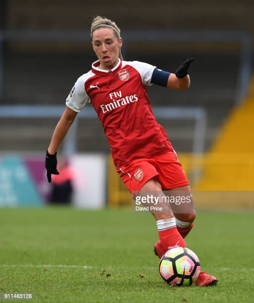 Jordan Nobbs of the Arsenal Women during the match between Reading FC Women and Arsenal Women at Adams Park on January 28 2018 in High Wycombe England