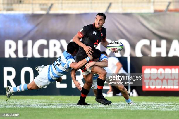 Jordan Olowofela of England during the World Championship U 20 match between England and Argentina on May 30 2018 in Narbonne France