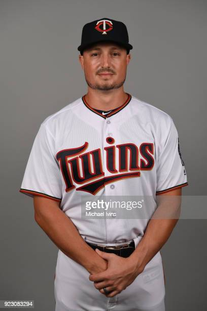 Jordan Pacheco of the Minnesota Twins poses during Photo Day on Wednesday February 21 2018 at CenturyLink Sports Complex in Fort Myers Florida