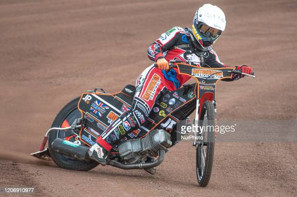 Jordan Palin of Belle Vue Colts in action during The Belle Vue Speedway Media Day, at The National Speedway Stadium, Manchester, on Thursday 12 March...