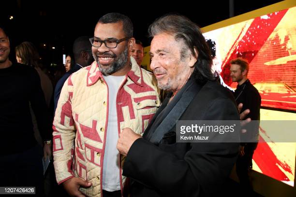 Jordan Peele and Al Pacino attend the World Premiere Of Amazon Original Hunters at DGA Theater on February 19 2020 in Los Angeles California