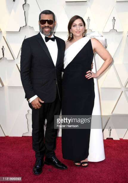 Jordan Peele and Chelsea Peretti attend the 91st Annual Academy Awards at Hollywood and Highland on February 24 2019 in Hollywood California