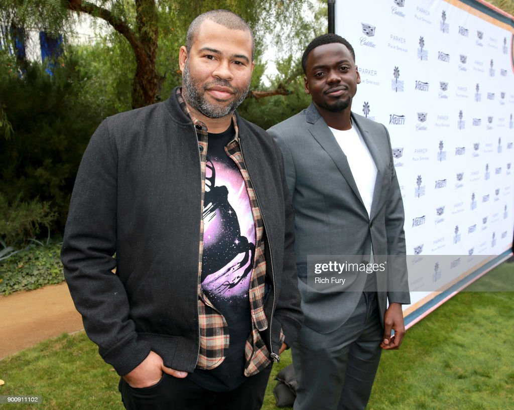 Jordan Peele (L) and Daniel Kaluuya attend Variety's Creative Impact Awards and 10 Directors to Watch Brunch Red Carpet at the 29th Annual Palm Springs International Film Festival at Parker Palm Springs on January 3, 2018 in Palm Springs, California.