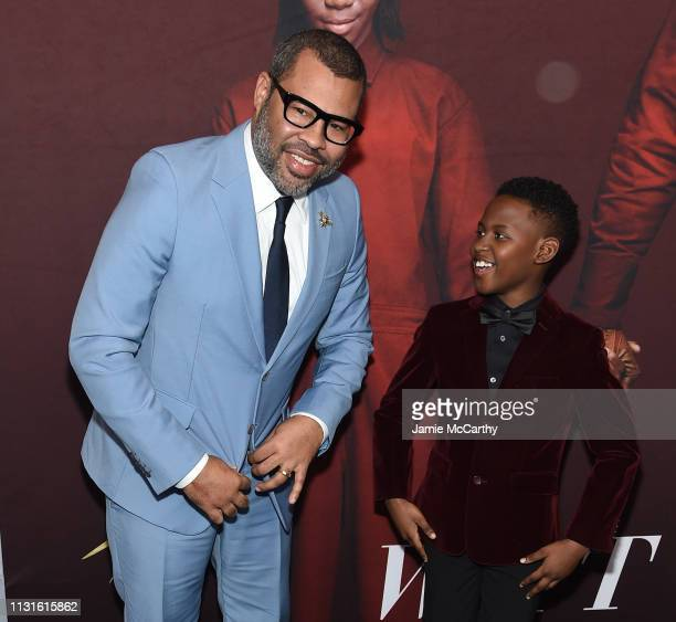 Jordan Peele and Evan Alex attend the 'US' premiere at Museum of Modern Art on March 19 2019 in New York City