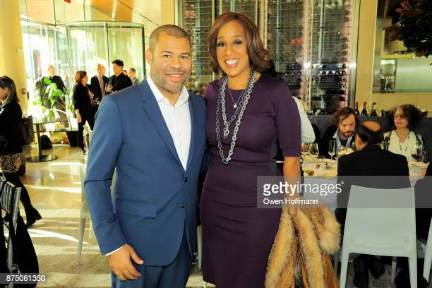 Jordan Peele and Gayle King attend Universal Pictures' 'Get Out' Peggy Siegel Luncheon at Lincoln Ristorante on November 15 2017 in New York City