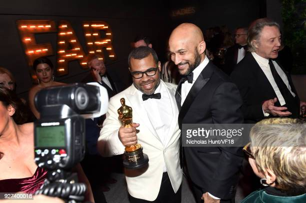 Jordan Peele and KeeganMichael Key attend the 2018 Vanity Fair Oscar Party hosted by Radhika Jones at Wallis Annenberg Center for the Performing Arts...