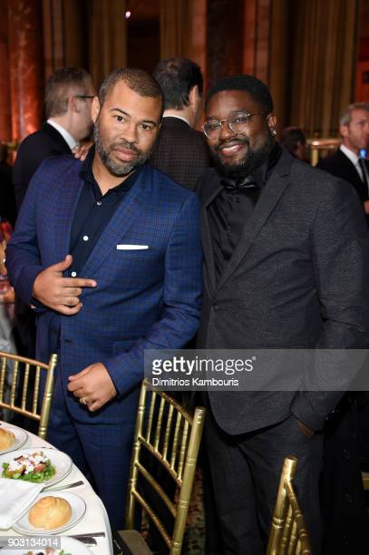 Jordan Peele and Lil Rel Howery attend the National Board of Review Annual Awards Gala at Cipriani 42nd Street on January 9 2018 in New York City