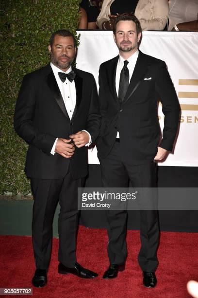 Jordan Peele and Mark Boal attends the 49th NAACP Image Awards Arrivals at Pasadena Civic Auditorium on January 15 2018 in Pasadena California