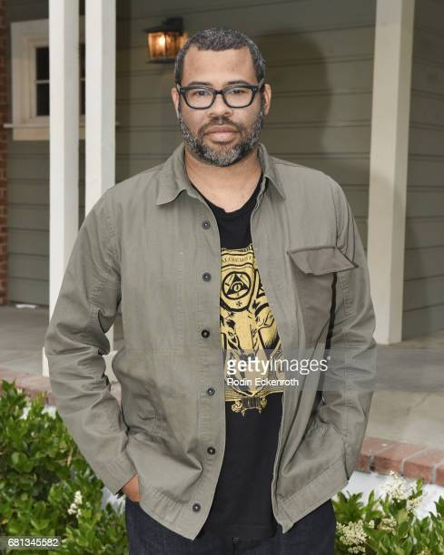 Jordan Peele arrives at Get Out garden party in support of the home entertainment release on May 9 2017 in Universal City California