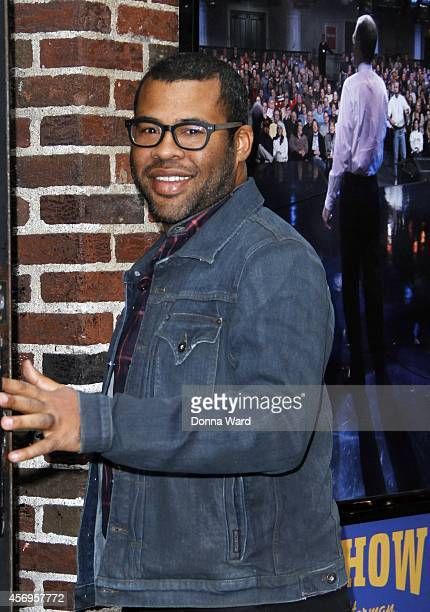 Jordan Peele arrives for the Late Show with David Letterman at Ed Sullivan Theater on October 9 2014 in New York City