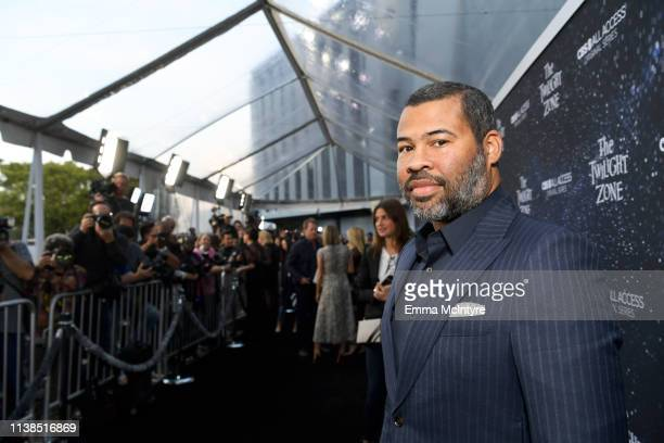 Jordan Peele attends CBS All Access new series The Twilight Zone premiere at the Harmony Gold Preview House and Theater on March 26 2019 in Hollywood...