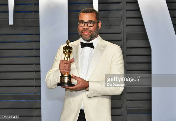 Jordan Peele attends the 2018 Vanity Fair Oscar Party hosted by Radhika Jones at Wallis Annenberg Center for the Performing Arts on March 4 2018 in...