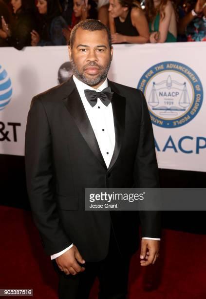 Jordan Peele attends the 49th NAACP Image Awards at Pasadena Civic Auditorium on January 15 2018 in Pasadena California