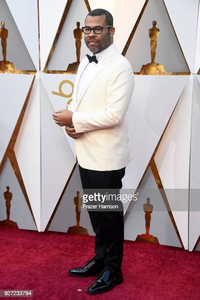 Jordan Peele attends the 90th Annual Academy Awards at Hollywood Highland Center on March 4 2018 in Hollywood California