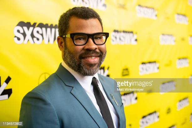 Jordan Peele attends the Us Premiere 2019 SXSW Conference and Festivals at Paramount Theater at Stateside Theater on March 08 2019 in Austin Texas