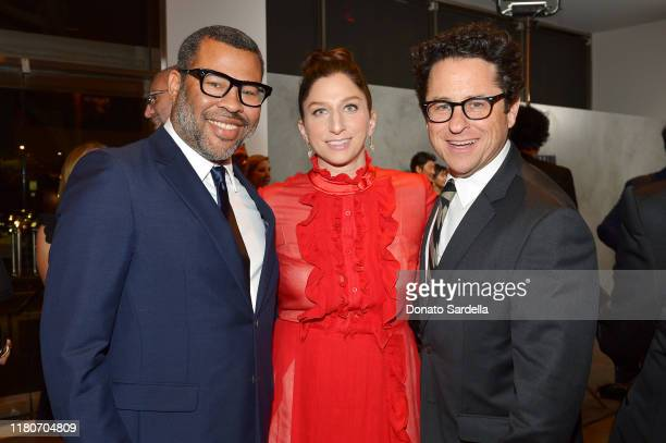 Jordan Peele Chelsea Peretti and JJ Abrams attend Hammer Museum's 17th Annual Gala In The Garden on October 12 2019 in Los Angeles California