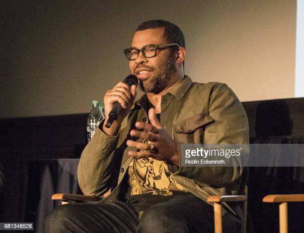 Jordan Peele dissects scenes at screening and QA of Get Out in support of the home entertainment release on May 9 2017 in Universal City California