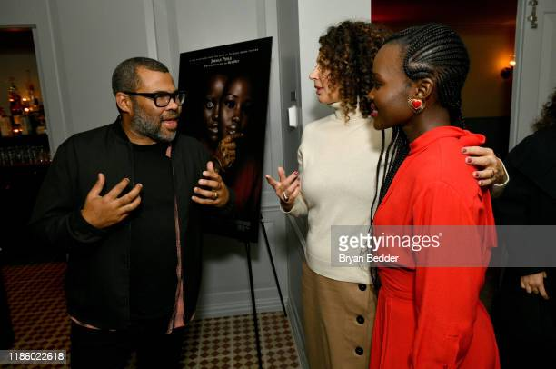Jordan Peele Donna Langley and Lupita Nyong'o attend a special screening of 'Us' presented by Universal Pictures on November 06 2019 in New York City