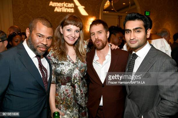 Jordan Peele Emily V Gordon Sam Rockwell and Kumail Najiani attend The BAFTA Los Angeles Tea Party at Four Seasons Hotel Los Angeles at Beverly Hills...