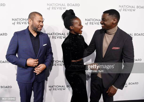 Jordan Peele Lupita Nyong'o and Daniel Kaluuya attend the 2018 National Board Of Review Awards Gala at Cipriani 42nd Street on January 9 2018 in New...