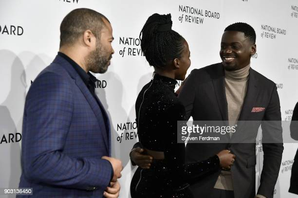 Jordan Peele Lupita Nyong'o and Daniel Kaluuya attend the 2018 The National Board Of Review Annual Awards Gala at Cipriani 42nd Street on January 9...