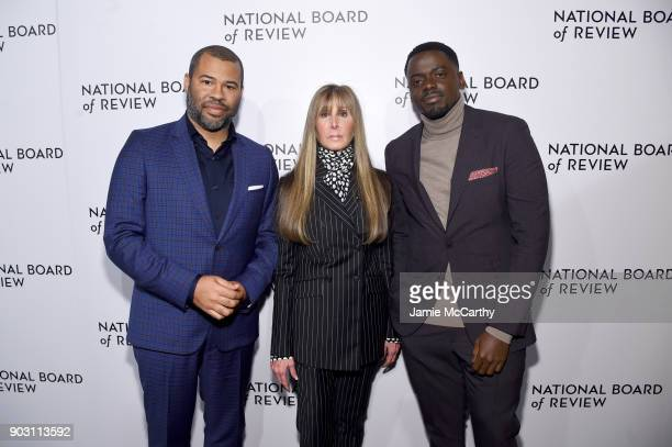 Jordan Peele National Board of Review President Annie Schulhof and Daniel Kaluuya attend The National Board Of Review Annual Awards Gala at Cipriani...