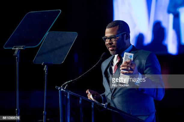 Jordan Peele speaks onstage during IFP's 27th Annual Gotham Independent Film Awards at Cipriani Wall Street on November 27 2017 in New York City