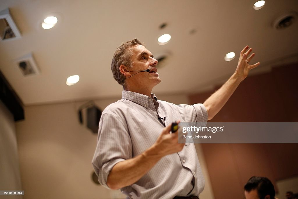 TORONTO, ON - January 10, 2017. Jordan Peterson during his lecture at UofT. Peterson is the professor at the centre of a media storm because of his public declaration that he will not use pronouns, such as 'they,' to recognize non-binary genders . This lecture had no reference to the hot topic.