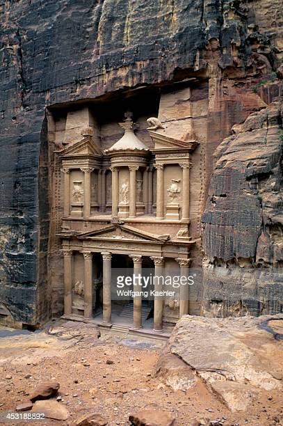 Jordan Petra Treasury Of The Pharaoh 8485 Bc View From Cliff