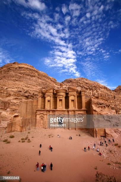 Jordan, Petra, view to Al Khazneh from above