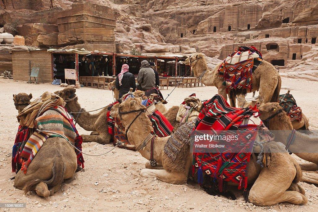 Jordan, Petra-Wadi Musa, Nabatean City of Petra : Stock Photo