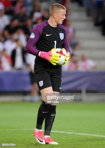 Jordan Pickford during the UEFA European Under21 match between England and Poland at Kolporter Arena on June 22 2017 in Kielce Poland