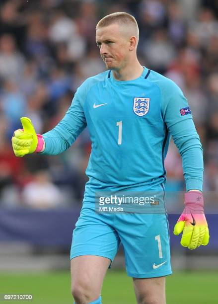 Jordan Pickford during the UEFA European Under21 match between Sweden and England at Kolporter Arena on June 16 2017 in Kielce Poland